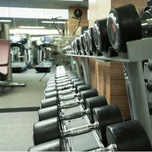 fitness-club-weight-training-equipment-picture-id843549744